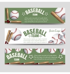 Baseball team banners vector
