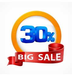 Big sale inscription label vector image