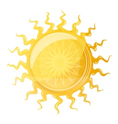 Big Sun with Wavy Rays vector image vector image