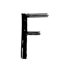 capital letter f painted by brush vector image