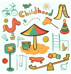 Cartoon children playground icon vector image