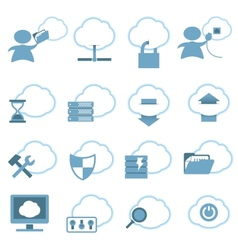 Cloud Hosting Icons set vector image