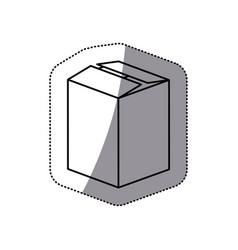 contour box closed icon vector image vector image