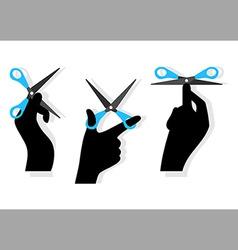 cut hands vector image vector image