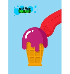 Drugs ice cream Acid ice cream Sweetness for vector image