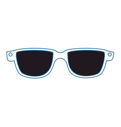 Glasses fashion accesory vector