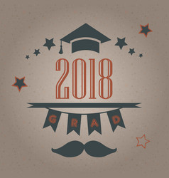 Grad 2018 festive poster on bubbly background vector