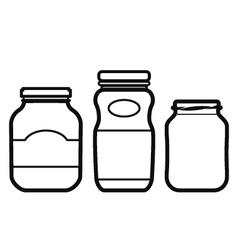 Jar Set vector image vector image
