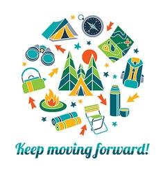 Keep moving forward vector