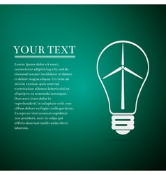 Light bulb with a wind turbines as idea of vector