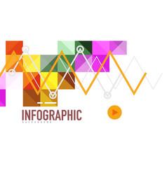 modern geometric presentation background vector image