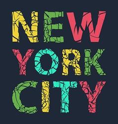 New york city typography t-shirt graphics vector