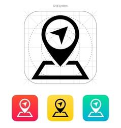 Pin pointer icon vector