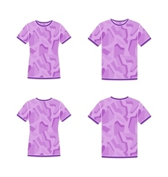Purple short sleeve t-shirts templates with the vector image vector image