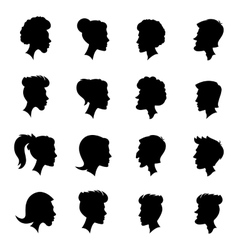 Silhouettes profiles vector
