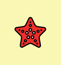 starfish icon thin line on color background vector image vector image
