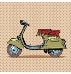 Vintage scooter retro transport vector
