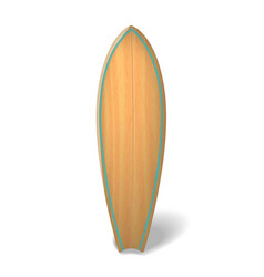 wood surf board summer surfing isolated vector image