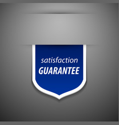 Satisfaction guarantee tag vector image