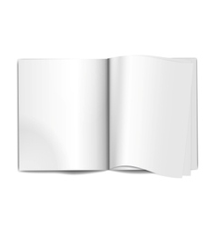 Magazine blank pages vector