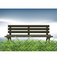 park bench chill vector image