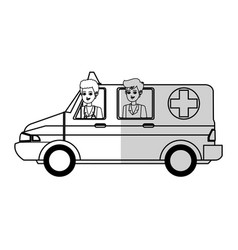 Medical ambulance icon vector