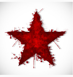 Bloody star - ink vector