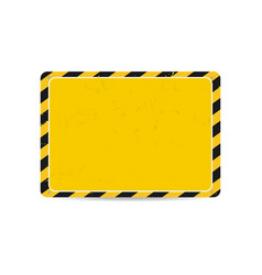 hazard frame caution frame with black and yellow vector image