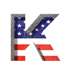 American cutted figure k paste to any background vector