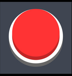 3d flat blank circle web button vector