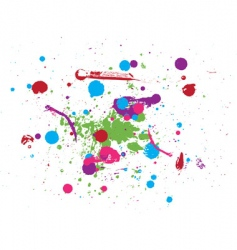 drops of paint vector image