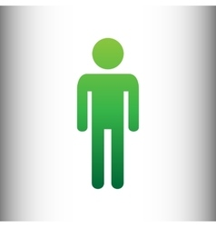 Man sign green gradient icon vector