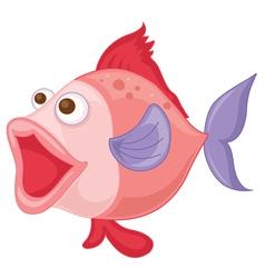 a pink fish vector image vector image