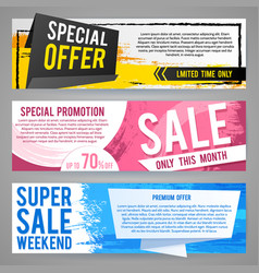 abstract gift vouchers or sale banners with vector image vector image