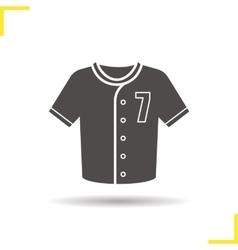 Baseball t-shirt icon vector