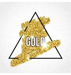 black frame on the gold glitter background vector image vector image