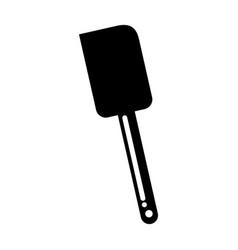 Black silicone spatula graphic design vector