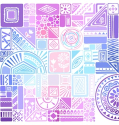 Bright colourful seamless texture with geometric vector image