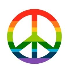 Brightness Rainbow peace symbol vector image
