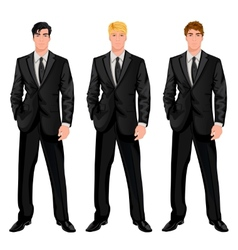 Business man set vector