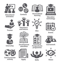 business management icons pack 35 vector image vector image