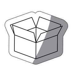 contour box opened icon vector image vector image
