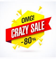 Crazy sale poster vector