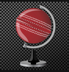 criket criket globe isolated over vector image