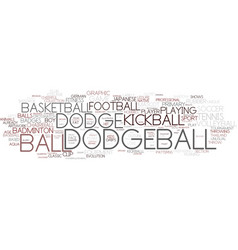 Dodgeball word cloud concept vector