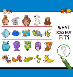 Find mismatched picture game vector