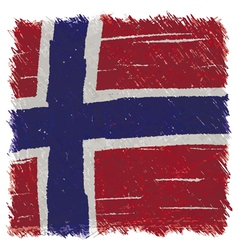 Flag of norway handmade square shape vector