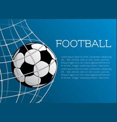 football ball poster of soccer championship vector image