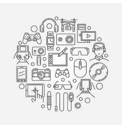 Gadgets and technology vector