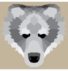 Gray low poly bear vector image vector image